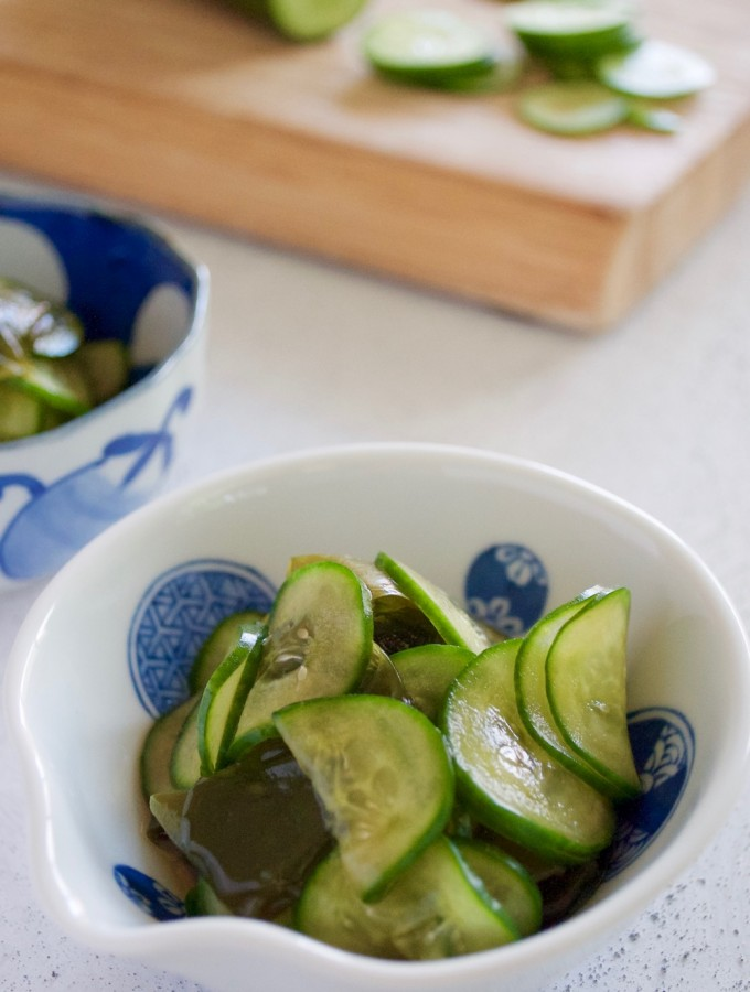 Cucumber and Seaweed Sunomono (Vinegar Dressing)
