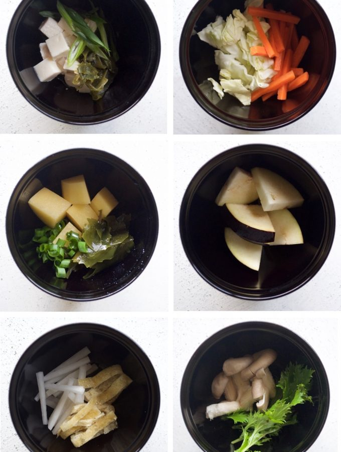 Miso Soup Ingredient Combinations