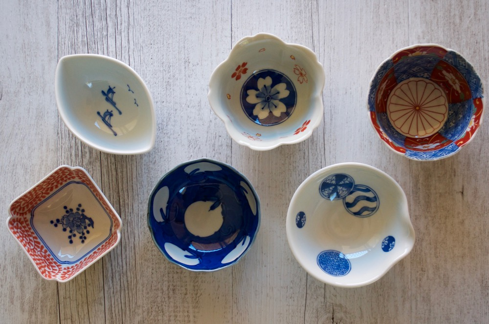 "Japanese small bowls called ""kobachi"""