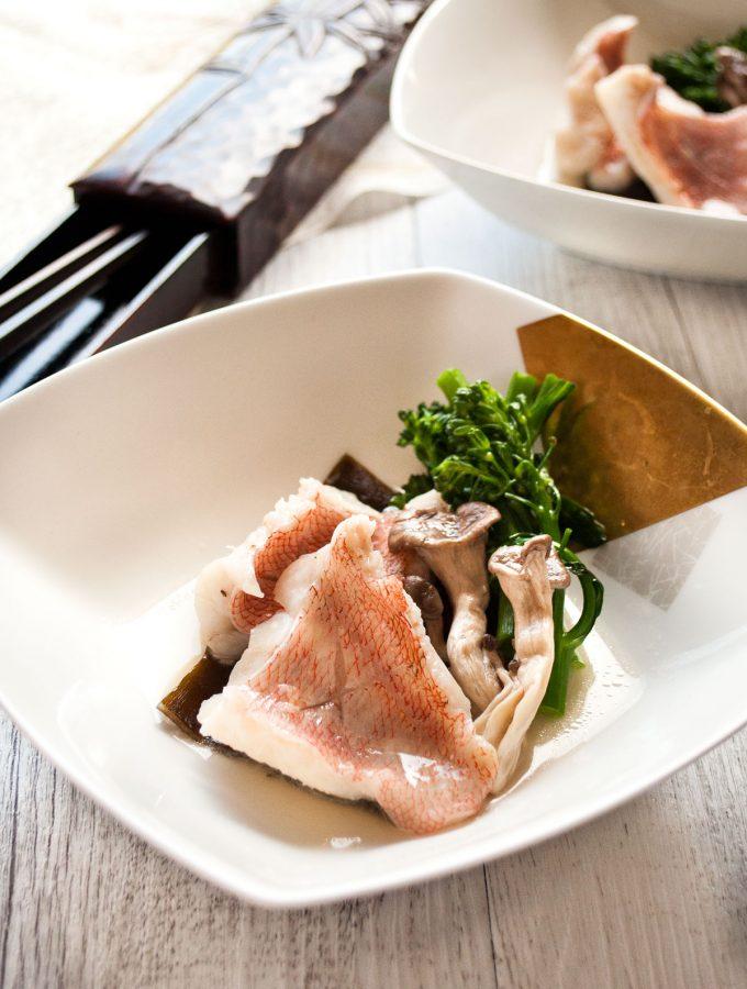 Sakamushi Fish (Steamed Fish in Sake)