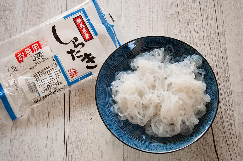 Shirataki - konyaku yum noodles.