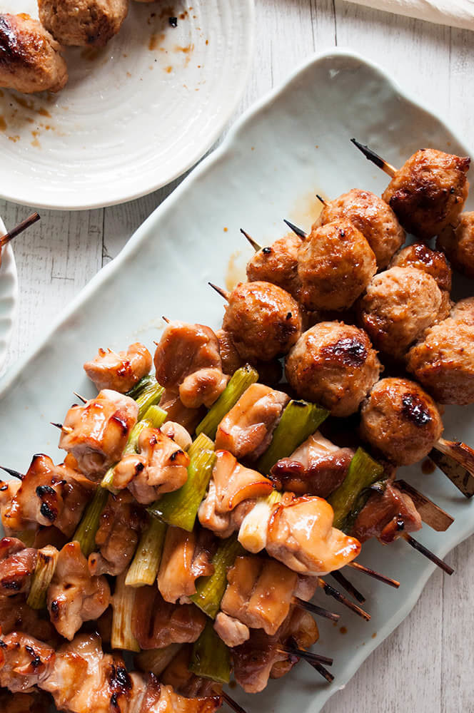 Tsukune (Japanese chicken Meatballs) is a regular yakitori dish item.