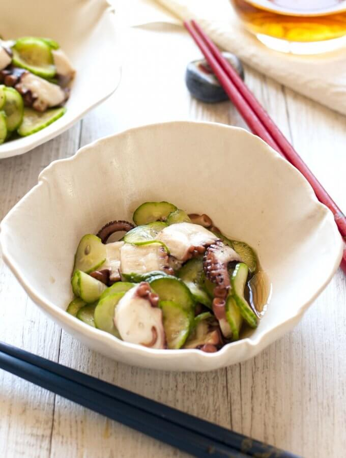 Octopus and Cucumber Sunomono (Vinegar Dressing)