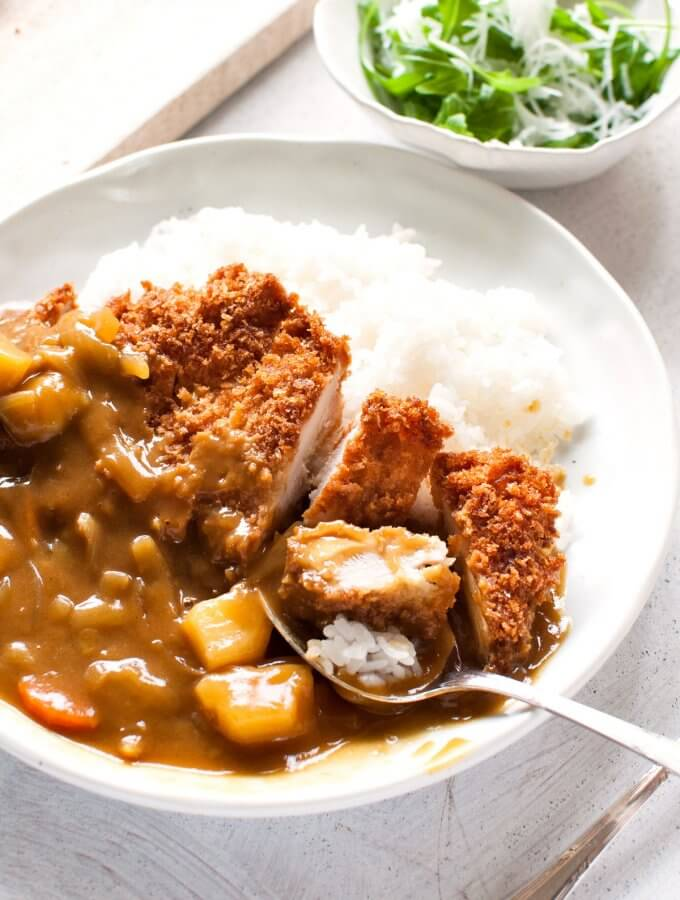 Katsu Curry (Japanese Curry Rice with Chicken Cutlet)