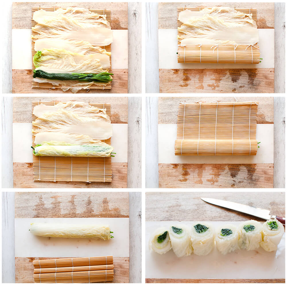 How to make rolled Chinese cabbage.