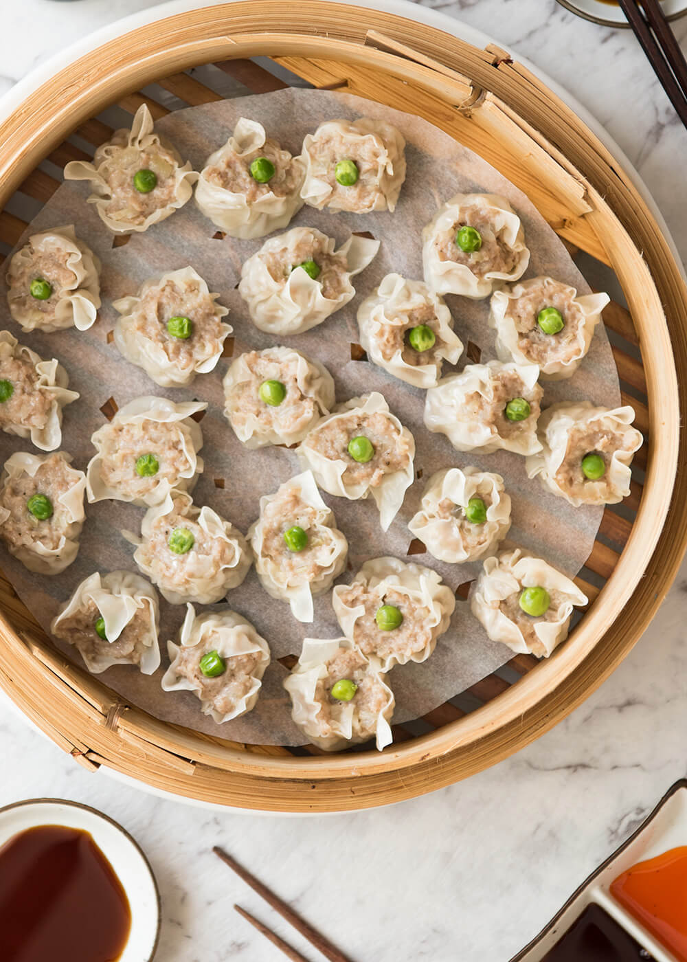 The Japanese version of steamed dumpling, shumai (or shao mai) is quite easy to make. It only contains pork mince, onion and few typical Japanese seasonings, but it tastes so good.