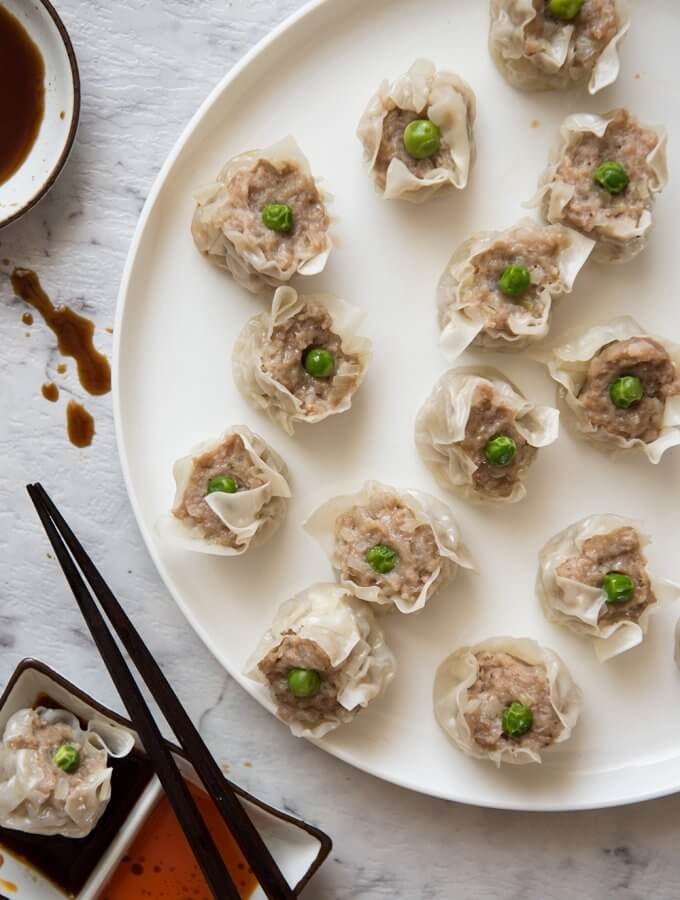 Shumai (or Shao Mai, Steamed Dumpling)