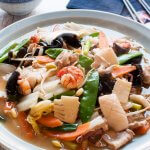 A very popular Chinese dish, Happosai (Combination Stir Fry) is not modified very much from the original Chinese version. It is made with lots of vegetables, meat and seafood coated with a thick flavoursome sauce.