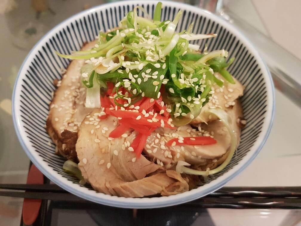 Yakibuta-don (yakibuta on rice).