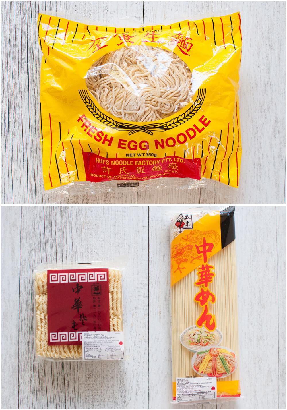 Various ramen noodles.
