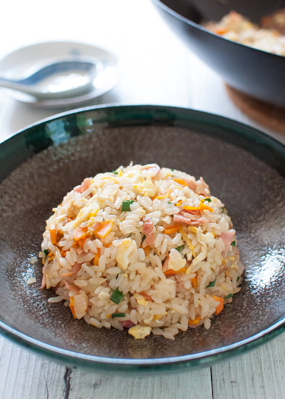 Japanese Fried Rice (Chāhan) with Instant Seasoning