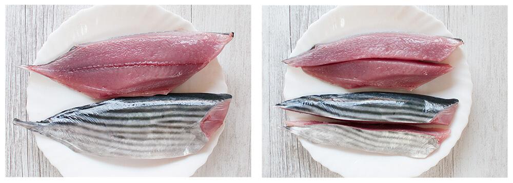 Sashimi quality bonito.