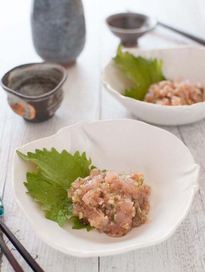 Japanese-style Kingfish Tartare (Kingfish Tataki)