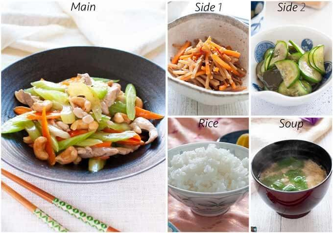 Dinner Idea with Chicken Stir Fry as a main dish.