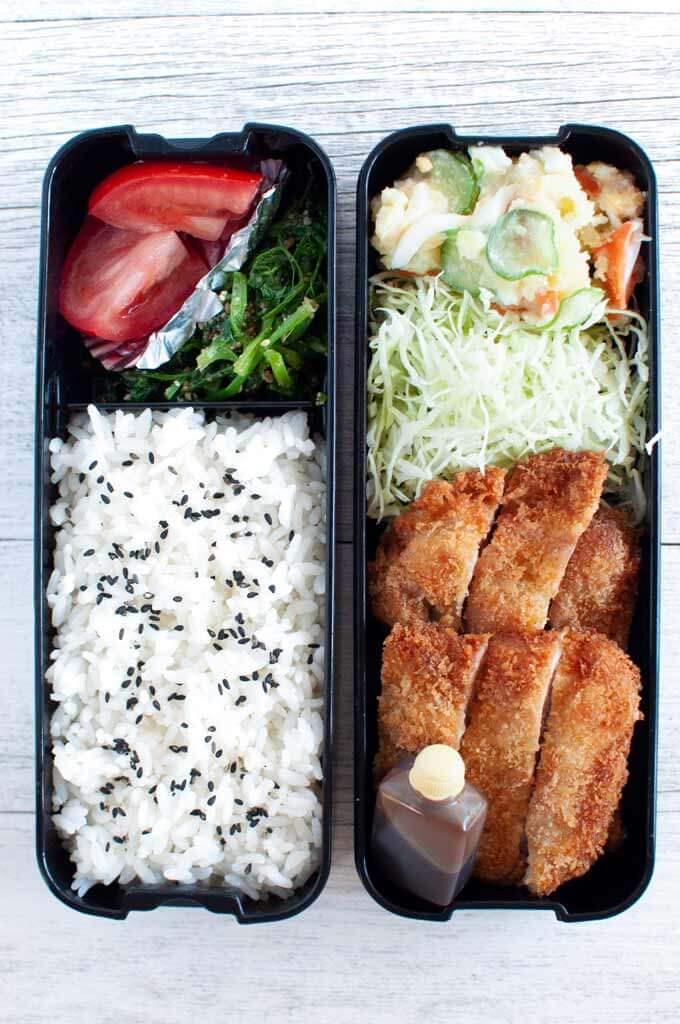 Tonkatsu Bento - view from the top.