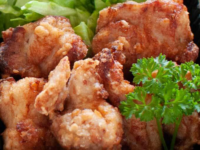 Zoomed-in photo of Karaage