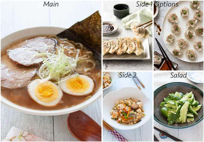 Dinner idea with home-made shōyu ramen.