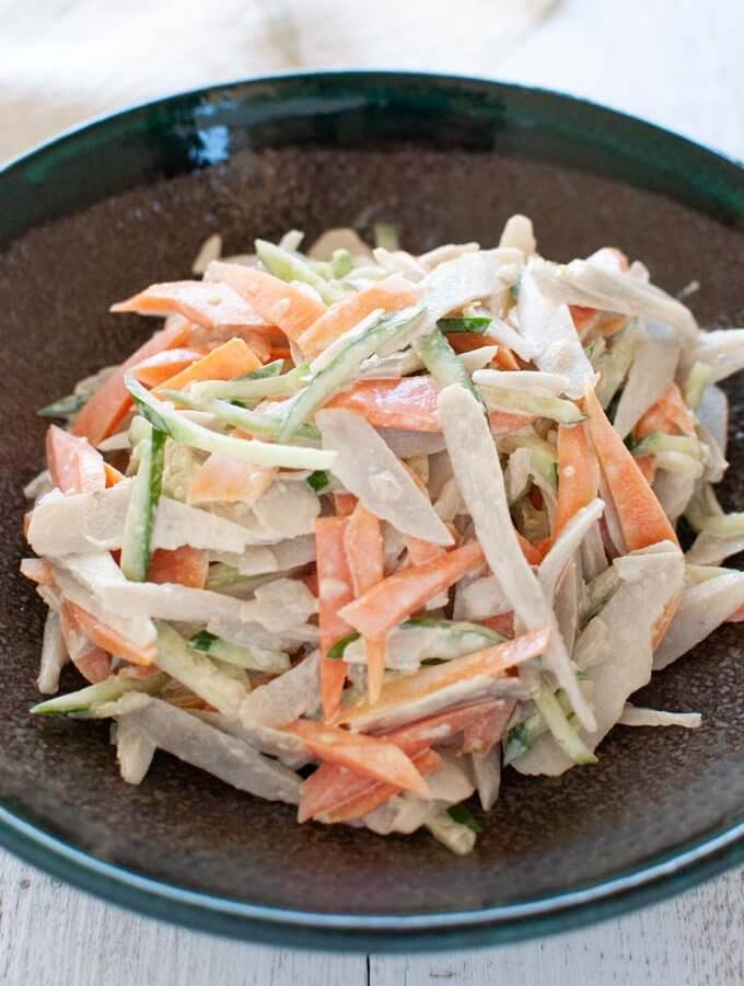 Root Vegetable Salad with Wasabi Mayonnaise