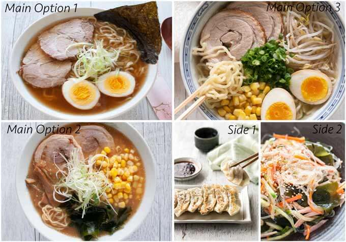 Menu Idea with Ramen.