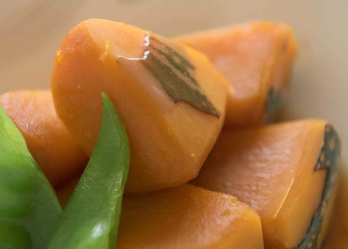 Zoomed-in photo of Simmered Pumpkin.