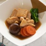 Kanazawa-style Simmered Chicken and Tofu (Jibuni) served in a bowl.