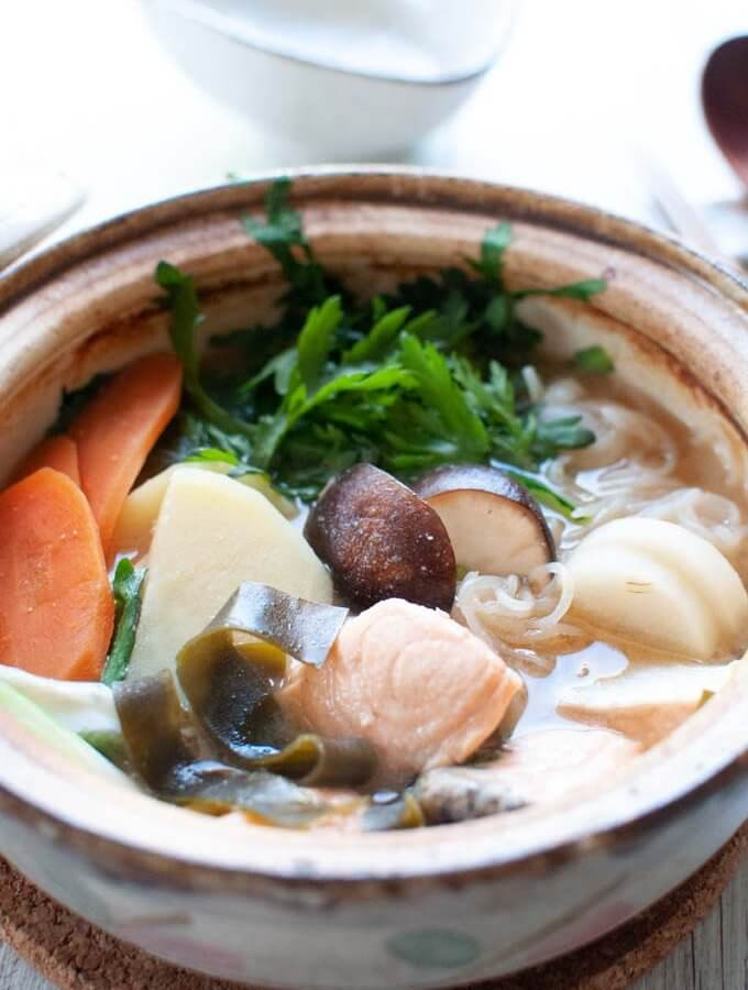 Salmon Hot Pot (Ishikari Nabe)