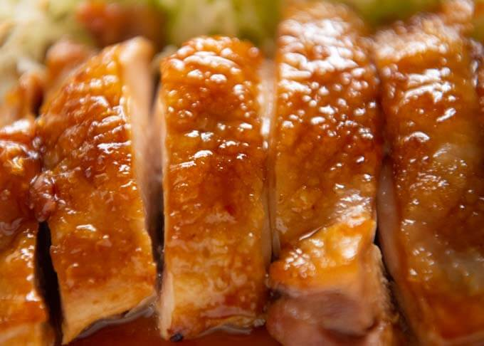 Zoomed-in photo of Teriyaki Chicken.