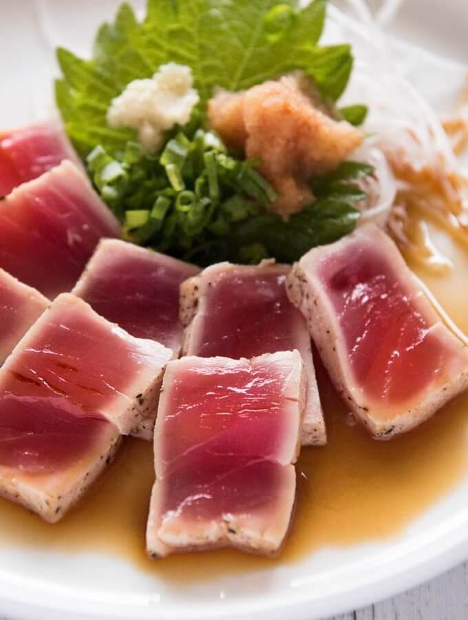 Tuna Tataki (Seared Tuna) with Ponzu