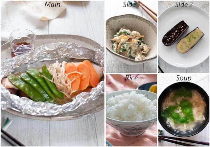 Menu idea with Salmon in Foil.