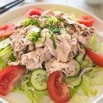 Hero shot of Pork Shabu-shabu Salad.