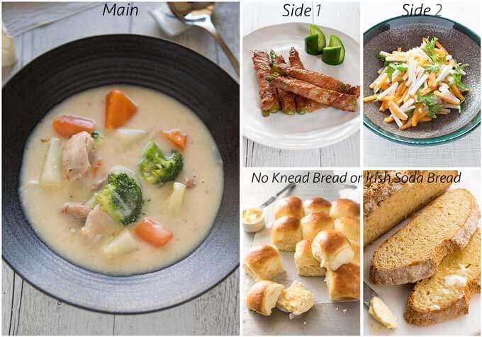 Meal idea with Japanese Chicken Cream Stew.