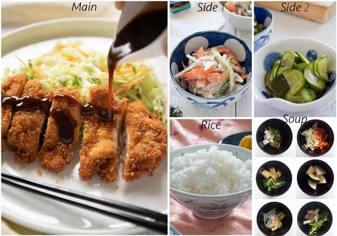 Menu idea with Japanese Chicken Cutlet.
