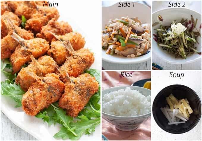 Dinner idea with Konbu Seaweed and Cucumber Salad.