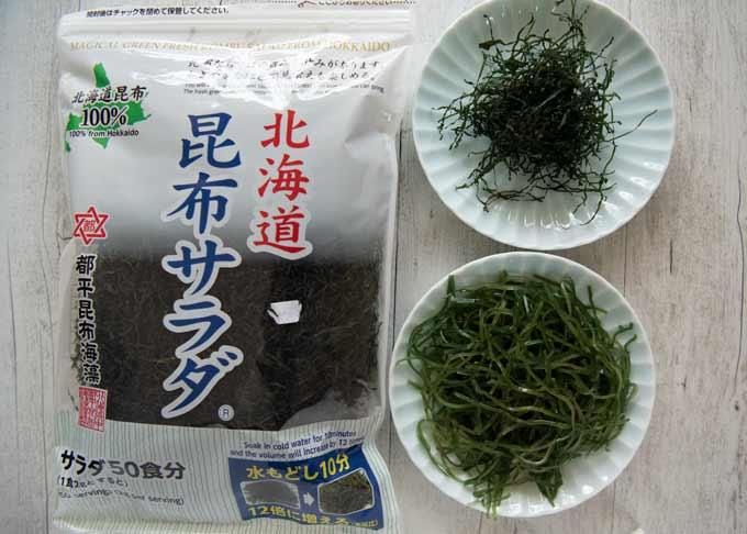 Sample photo of store-bought dried kiri konbu.