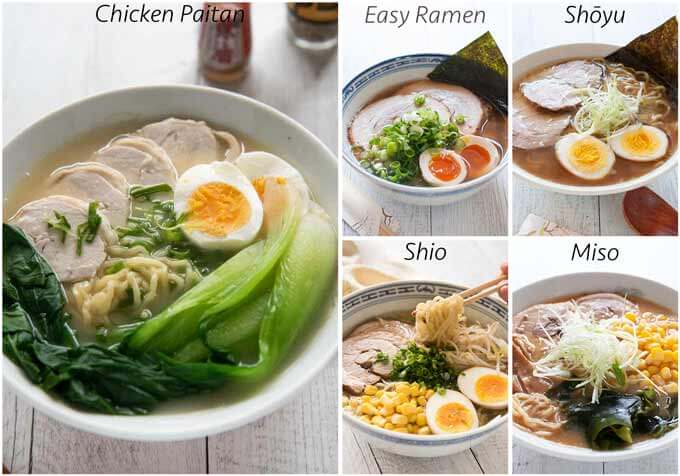 Five kinds of ramen in my Ramen Collection.