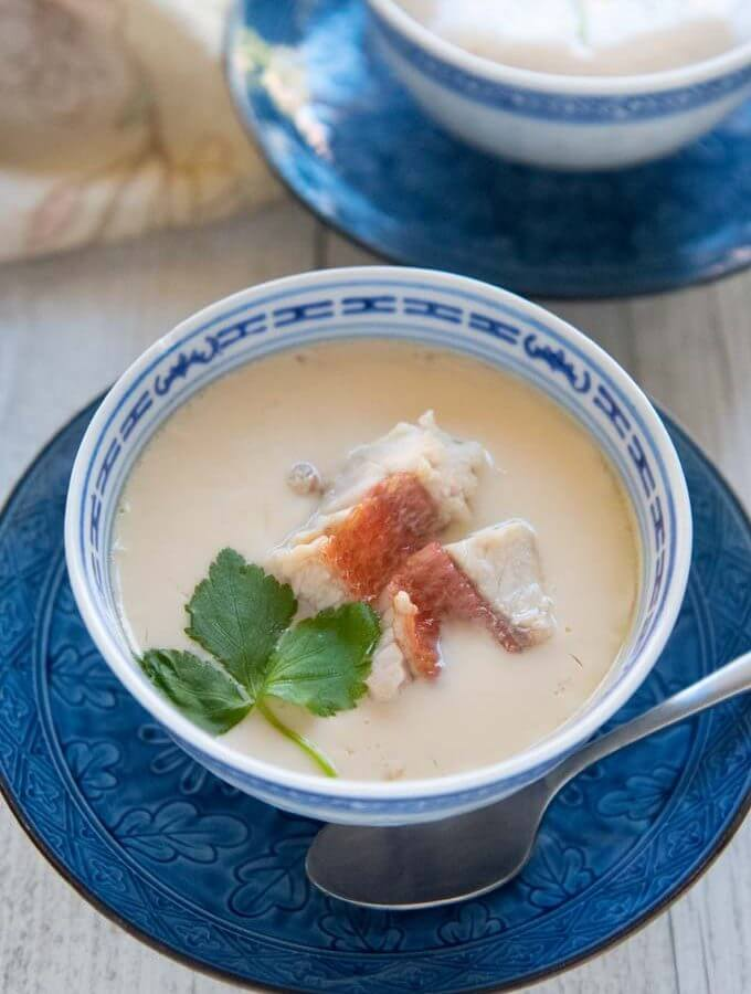 Hero shot of Fish Chawanmushi.